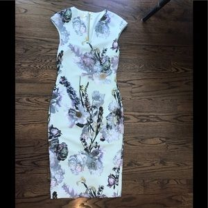 Ted Baker Large Floral Sheath dress